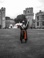 Knight at Warwick Castle, England. Photo by Lauren Keim.