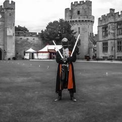 Knight at Warwick Castle, England. Photo by Lauren Keim.