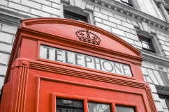 Telephone booth. London, England. Photo by Lauren Keim