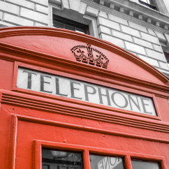 Telephone booth. London, England. Photo by Lauren Keim