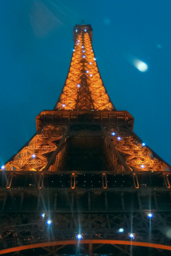 Eiffel Tower at Night. Paris, France. Photo by Lauren Keim.