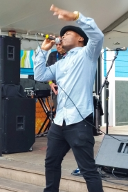 Clement Marfo, London rapper, Austin Jump Off, Mar. 18, 2015.